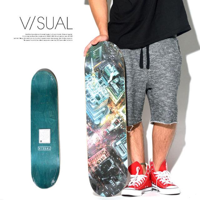 VISUAL (ビジュアル) スケボーデッキ SQUARE TIMES DECK VSAT011