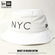 NEW ERA ニューエラ バケットハット BUCKET-01 NYC ホワイト×ブラック 11480296 7V6002