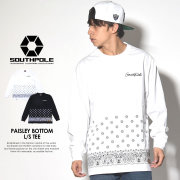 SOUTH POLE サウスポール 長袖Tシャツ PAISLEY BOTTOM L/S TEE 11731007 7V7057