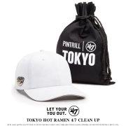 47BRAND フォーティーセブンブランド ローキャップ TOKYO HOT RAMEN 47 CLEAN UP XX-HOTMN755GWO-WH 7V8110
