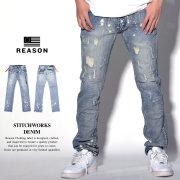 REASON リーズン デニムパンツ メンズ STITCHWORKS DENIM (S9-991)