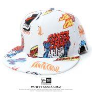 NEW ERA×SANTA CLUZ ニューエラ×サンタクルーズ コラボ ベースボールキャップ 59FIFTY サンタクルーズ マルチロゴ オールオーバー (11558008)