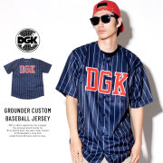 DGK ディージーケー ベースボールシャツ GROUNDER CUSTOM BASEBALL JERSEY (DSS-287)