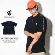 ROCA WEAR ロカウェア ポロシャツ RW TAPE PIQUE POLO (RW181K22)
