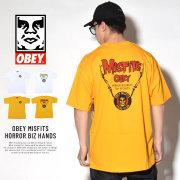 OBEY オベイ 半袖Tシャツ OBEY MISFITS HORROR BIZ HANDS (163081764)