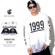 ROCAWEAR ロカウェア 長袖Tシャツ MANHATTAN LS TEE RW183T05