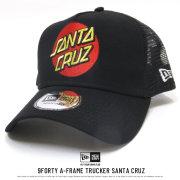 NEW ERA ニューエラ コラボ メッシュキャップ 9FORTY Aフレーム トラッカー Santa Cruz サンタクルーズ ロゴ ブラック 11838637