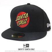 NEW ERA ニューエラ コラボ フラットバイザーキャップ 59FIFTY Santa Cruz サンタクルーズ ロゴ ブラック 11838647