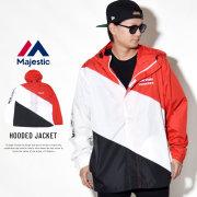 MAJESTIC マジェスティック ウィンドブレーカー HOODED JACKET MM23-NY-8F06