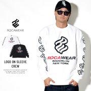 ROCAWEAR ロカウェア トレーナー LOGO ON SLEEVE CREW RW183K13