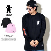 Grizzly Griptape グリズリーグリップテープ 長袖Tシャツ CURSIVEL L/S TEE GMD1802P01