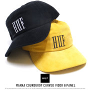 HUF ハフ カーブバイザーキャップ MARKA COURDUROY CURVED VISOR 6 PANEL HT00290