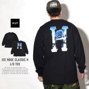 HUF ハフ 長袖Tシャツ ICE ROSE CLASSIC H L/S TEE TS00464