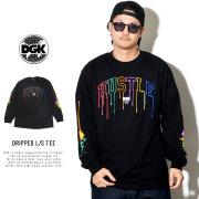 DGK ディージーケー 長袖Tシャツ DRIPPED L/S TEE BLACK PTL-1015