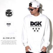 DGK ディージーケー 長袖Tシャツ ALL STAR L/S TEE WHITE PTL-1026