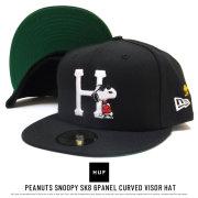 HUF ハフ フラットバイザーキャップ PEANUTS JOE COOL NEW ERA HAT HT00339