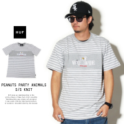 HUF ハフ ニットTシャツ PEANUTS PARTY ANIMAL S/S KNIT KN0013
