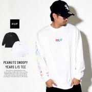HUF ハフ 長袖Tシャツ PEANUTS SNOOPY YEARS L/S TEE TS00642