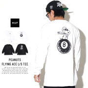 HUF ハフ 長袖Tシャツ PEANUTS FLYING ACE L/S TEE TS00643