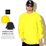 HUF ハフ 長袖Tシャツ PEANUTS SPIKE STRIPES L/S TEE TS00685