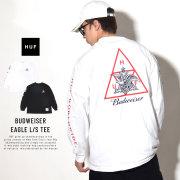 HUF ハフ 長袖Tシャツ BUDWEISER EAGLE TT L/S TEE TS00746