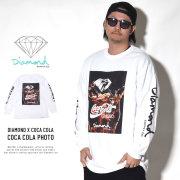 DIAMOND SUPPLY CO ダイヤモンドサプライ 長袖Tシャツ COCA COLA PHOTO A19DMPC050S