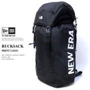 NEW ERA ニューエラ ラックサック RUCKSACK プリントロゴ ブラック×ホワイト (11556631)