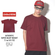 UNITED ATHLE ユナイテッドアスレ 半袖Tシャツ AUTHENTIC SUPER HEAVY WEIGHT 7.1OZ S/S TEE バーガンディ (4252-01)