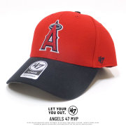 47BRAND フォーティーセブンブランド カーブバイザーキャップ ロサンゼルス・エンゼルス ANGELS 47 MVP レッド/ネイビー (B-MVP04WBVRP-RD)