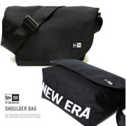 NEW ERA ニューエラ ショルダーバッグ SHOULDER BAG プリントロゴ ブラック×ホワイト (11783272)