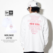 NEW ERA ニューエラ 長袖Tシャツ 長袖 コットン Tシャツ ニューエラ ワールドワイド ホワイト × レッド 11901421
