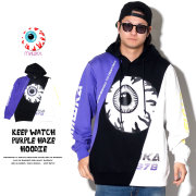 MISHKA ミシカ プルオーバーパーカー KEEP WATCH PURPLE HAZE HOODIE MSS190436