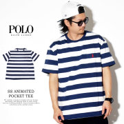 POLO RALPH LAUREN ポロラルフローレン 半袖Tシャツ SS ANIMATED POCKET TEE CLASSIC 710746754001