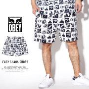 OBEY オベイ ハーフパンツ EASY CHAOS SHORT 172120043