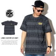 DGK ディージーケー 半袖Tシャツ LINKS CUSTOM S/S KNIT CTSK-107