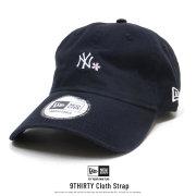 NEW ERA ニューエラ カーブバイザーキャップ 9THIRTY クロスストラップ 桜 ニューヨーク・ヤンキース ネイビー × ホワイト 12018991