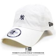 NEW ERA ニューエラ カーブバイザーキャップ 9THIRTY クロスストラップ タイプライター ニューヨーク・ヤンキース バニラホワイト × ホワイト 11901267