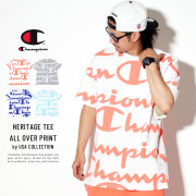 CHAMPION チャンピオン 半袖Tシャツ HERITAGE TEE ALL OVER PRINT T1919S