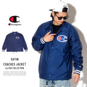 CHAMPION チャンピオン コーチジャケット SATIN COACHES JACKET RIBBED CUFF V5089