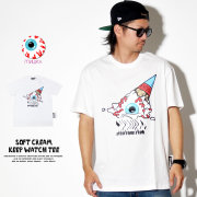 MISHKA ミシカ 半袖Tシャツ SOFT CREAM KEEP WATCH TEE MSS190044