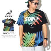 STAPLE ステイプル 半袖Tシャツ WINGS TEE 1904C5424