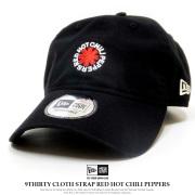 NEW ERA ニューエラ カーブバイザーキャップ 9THIRTY クロスストラップ Red Hot Chili Peppers ロゴ ブラック 12123604