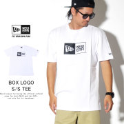 NEW ERA ニューエラ 半袖Tシャツ コットン Tシャツ ボックスロゴ ホワイト × ブラック 11783006