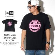 NEW ERA ニューエラ 半袖Tシャツ コットンTシャツ ネオンバイザーステッカーロゴ ブラック 12108184