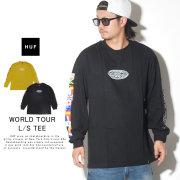 HUF ハフ 長袖Tシャツ WORLD TOUR L/S TEE TS00785