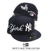 NEW ERA ニューエラ フラットバイザーキャップ 59FIFTY MLB ホームタウン エンブロイダリー ニューヨーク・ヤンキース ネイビー × スノーホワイト 12109082