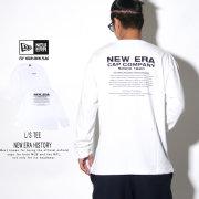 NEW ERA ニューエラ 長袖Tシャツ ロンT 長袖 コットン Tシャツ ニューエラ ヒストリー ホワイト 12108229