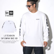 NEW ERA ニューエラ 長袖Tシャツ ロンT 長袖 コットン Tシャツ ニューエラ キャップ カンパニー ホワイト × ブラック 12108231