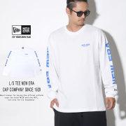 NEW ERA ニューエラ 長袖Tシャツ ロンT 長袖 コットン Tシャツ ニューエラ キャップ カンパニー ホワイト × ブルー 12108234