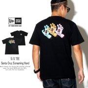 NEW ERA ニューエラ 半袖Tシャツ コットン Tシャツ Santa Cruz サンタクルーズ Screaming Hand ブラック 12110828